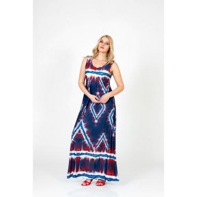 Φόρεμα ράντα σε μπλέ χρώμα.