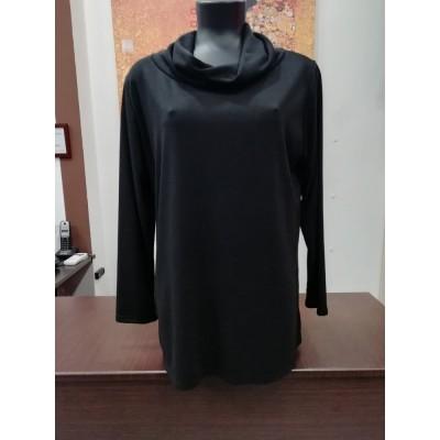 """Μπλούζα ζιβαγκό LOOSE πλεκτό σε μαύρο """"Raxsta"""""""