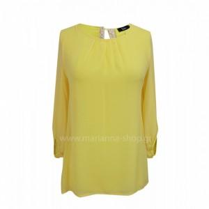 Μπλουζα κιτρινη μουσελινα