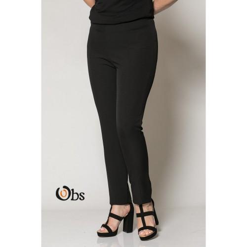 """Παντελόνι με λάστιχο """"μαίανδρος"""" σε μαύρο χρώμα (χειμερινό)."""