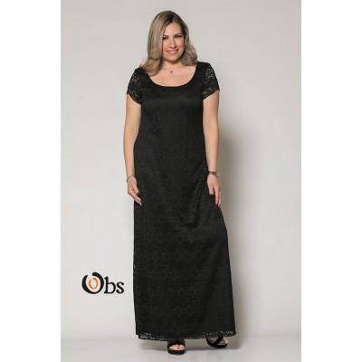 Φόρεμα δαντέλα κιπούρ μαυρο