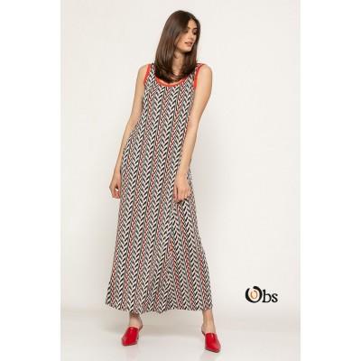 Φόρεμα ράντα ζίκ-ζάκ