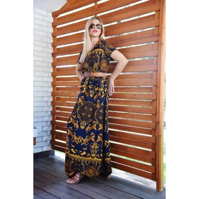 Φορεμα μπλε/χρυσο